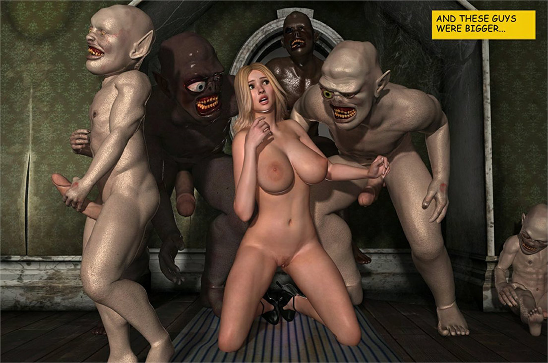 These guys were bigger, much bigger - Holly's Freaky Encounters / The attic of lust by Supafly 3d