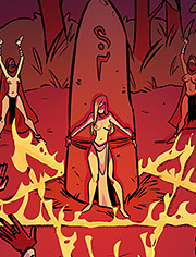Claim your virgin sacrifice / Rowena the Barbarian / Virgin sacrifices / Page 1-12