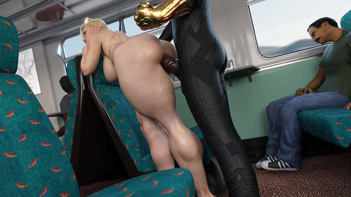 Get your nigga dick deep in my tight ass - Scarjo/Train by ZZ2Tommy