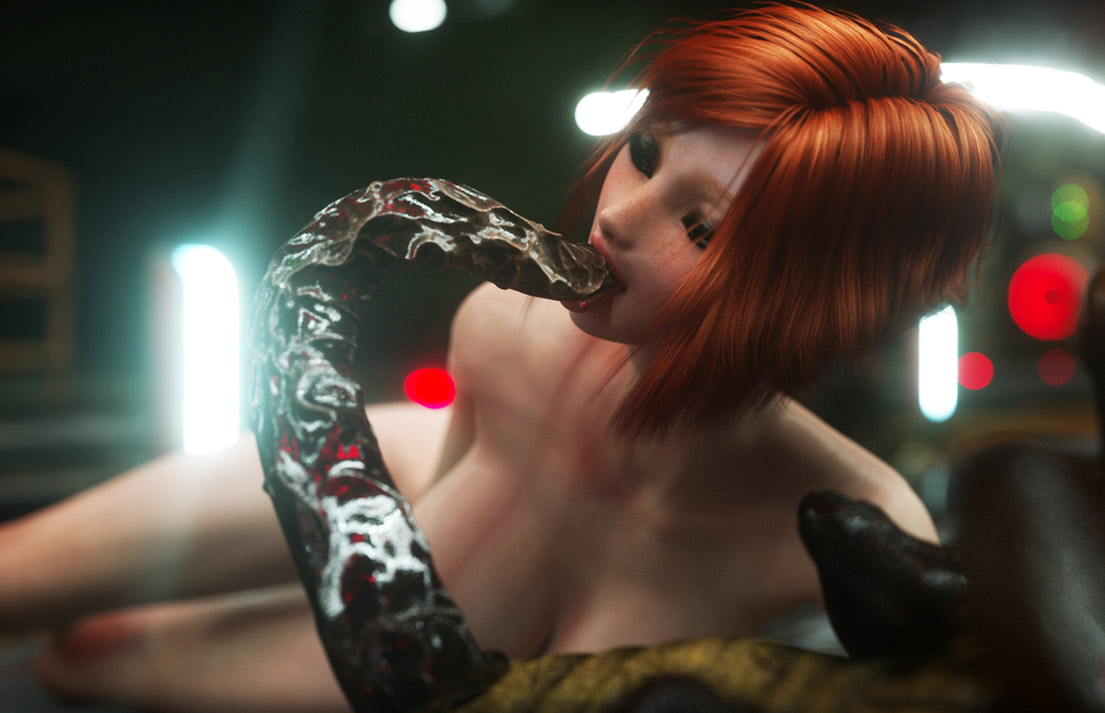 Tentacle dick found its way down her throat - Pest Control by Vaesark